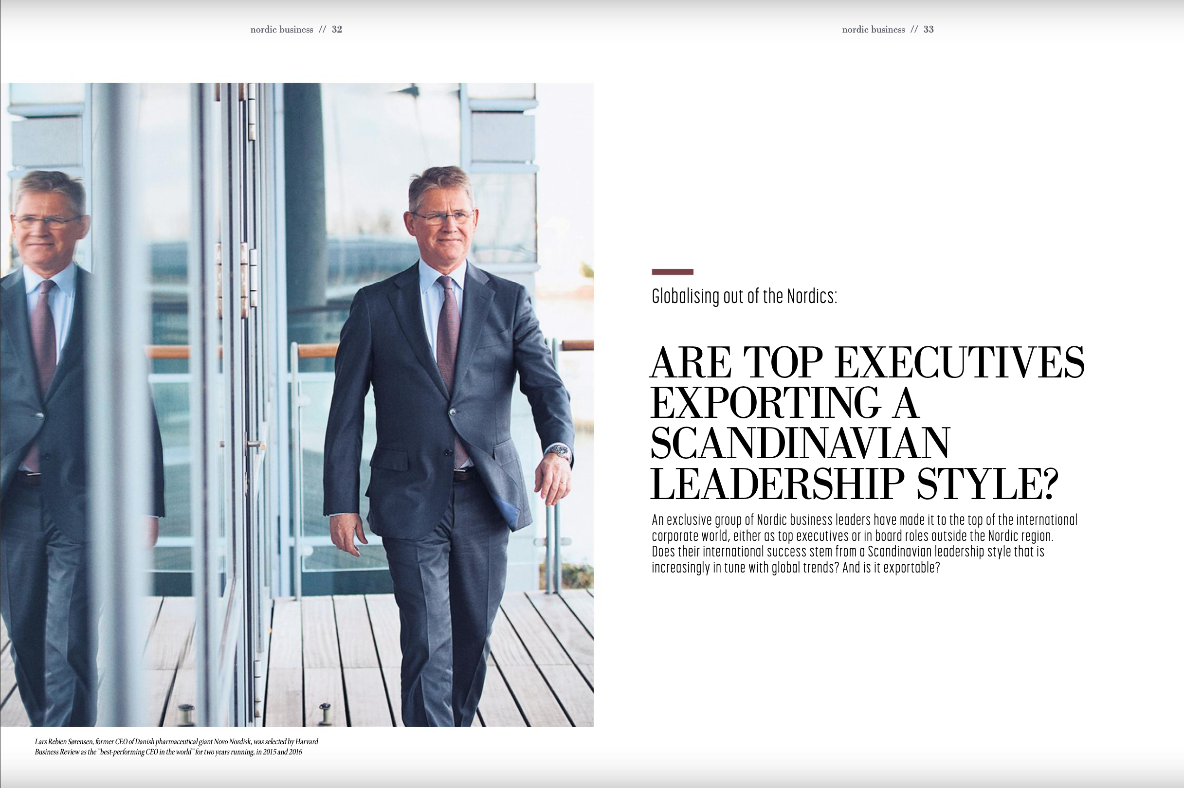 Are Top Executives Exporting a Scandinavian Leadership Style?